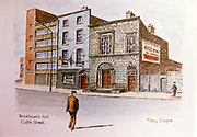 Randon Images of postcard drawings from Ireland, bricklayers, hall, cuffe, st, Old amateur photos of Dublin streets churches, cars, lanes, roads, shops schools, hospitals
