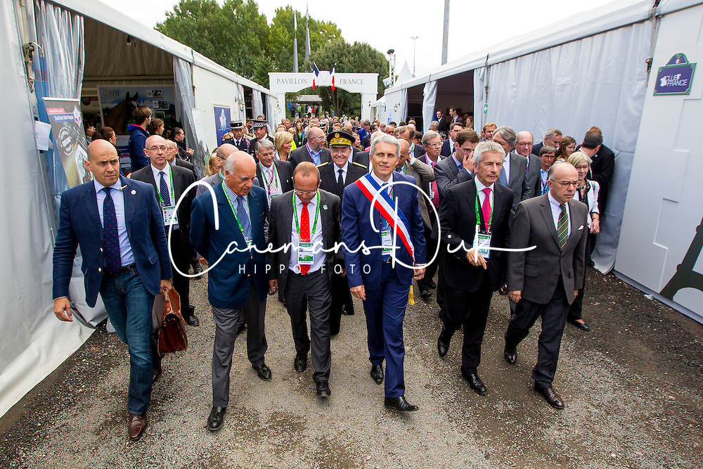 Opening Village Bruneau Joël (FRA) mayor city of Caen, Beauvais Laurent (FRA) président du conseil régional<br /> Alltech FEI World Equestrian Games™ 2014 - Normandy, France.<br /> © Hippo Foto Team - Leanjo de Koster<br /> 25/06/14