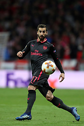 May 3, 2018 - Madrid, Spain - HENRIKH MKHITARYAN of Arsenal FC during the UEFA Europa League, semi final, 2nd leg football match between Atletico de Madrid and Arsenal FC on May 3, 2018 at Metropolitano stadium in Madrid, Spain (Credit Image: © Manuel Blondeau via ZUMA Wire)
