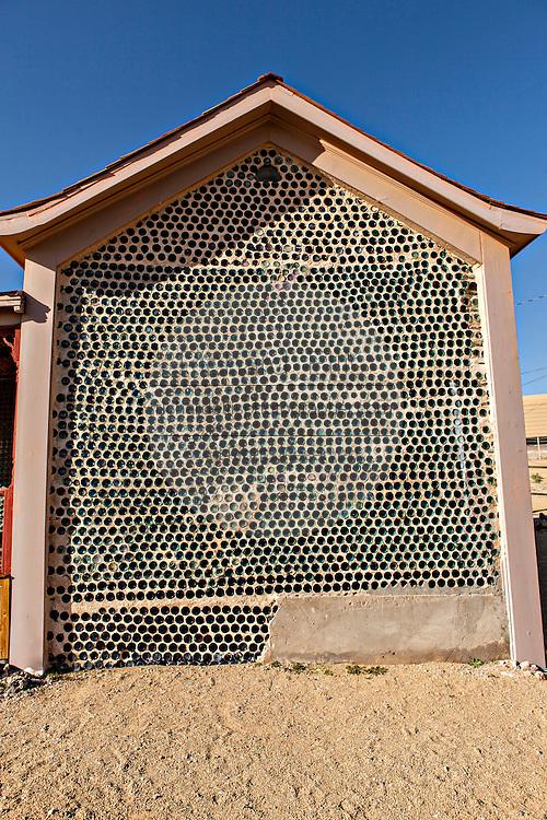 The Tom Kelly glass bottle house in Rhyolite, NV.