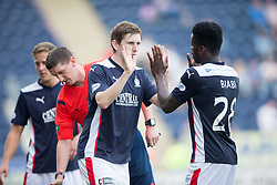 Falkirk's Blair Alston subs Falkirk's Botti Biabi.<br /> Falkirk 1 v 1 Queen of the South, Scottish Championship game played today at The Falkirk Stadium.