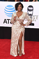 Annie Ilonzeh at the 49th NAACP Image Awards held at the Pasadena Civic Auditorium on January 15, 2018 in Pasadena, CA ©TArroyo/AFF-USA.com. 15 Jan 2018 Pictured: Niecy Nash. Photo credit: MEGA TheMegaAgency.com +1 888 505 6342
