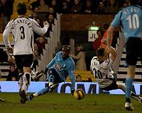 Photo: Olly Greenwood.<br />Fulham v Tottenham Hotspur. The Barclays Premiership. 20/01/2007. Tottenham's Pascal Chimbonda scores