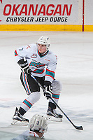 KELOWNA, CANADA - MARCH 26: Lucas Johansen #7 of Kelowna Rockets skates against the Kamloops Blazers on March 26, 2016 at Prospera Place in Kelowna, British Columbia, Canada.  (Photo by Marissa Baecker/Shoot the Breeze)  *** Local Caption *** Lucas Johansen;