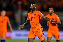 07-10-2016 NED: WK kwalificatie Nederland - Wit-Rusland, Rotterdam<br /> Het Nederlands elftal heeft in De Kuip een 4-1 overwinning op Wit-Rusland geboekt / Quincy Promes scoort de 2-0