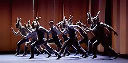 Balletboyz<br /> Life<br /> at Sadler's Wells, London, Great Britain <br /> Rabbit by  Pontus Lidberg <br /> rehearsal <br /> 20th April 2016 <br /> <br /> Andrea Carruciu<br /> Bradley Waller<br /> Edward Pearce<br /> Flatten Esmieu<br /> Harry Price<br /> Jordan Robson<br /> Matthew Rees <br /> Matthew Sanford<br /> Simone Donati <br /> <br /> Photograph by Elliott Franks <br /> Image licensed to Elliott Franks Photography Services