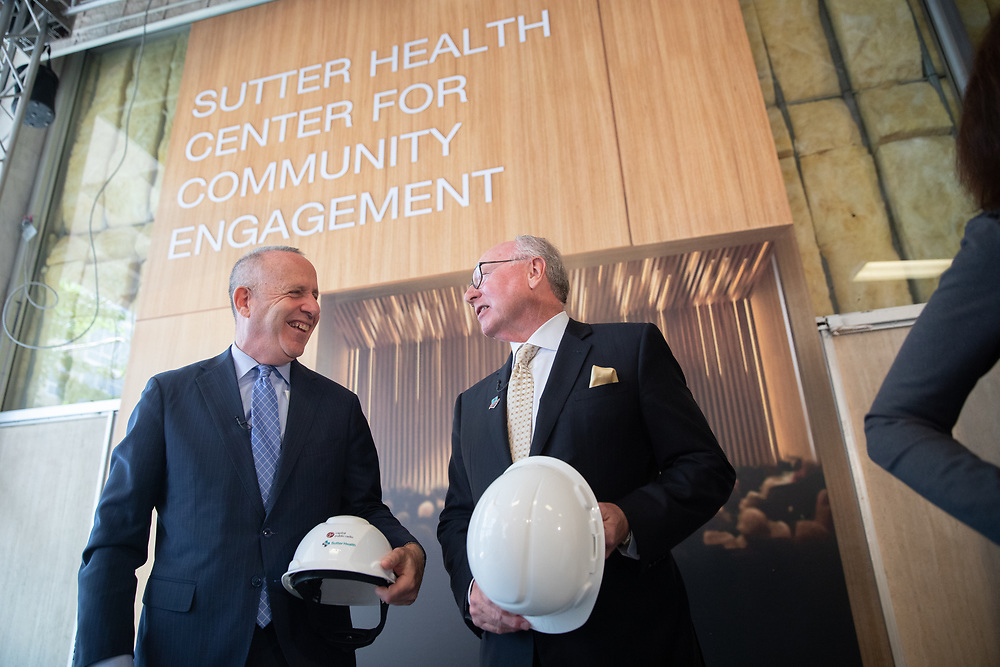 Sutter Health and Capital Public Radio announce their partnership at 1010 8th St. Tuesday, April 30, 2019.