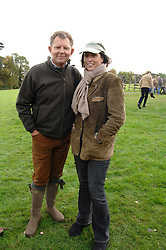 BERNARD DREESMAN and PIA MOROCCO at the Finch & Partners Clay Pigeon Shoot in aid of Battersea Dogs Home at the Holland & Holland Shooting Ground, Ruislip, Middlesex on 17th October 2007.<br />