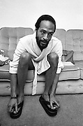 Marvin Gaye last UK photo session at his West London Apartment 1980