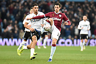 Aston Villa defender Tommy Elphick (24) on defensive duties during the The FA Cup 3rd round match between Aston Villa and Swansea City at Villa Park, Birmingham, England on 5 January 2019.