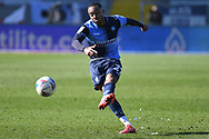 Wycombe Wanderers defender Jordan Obita (27) takes a shot at goal during the EFL Sky Bet Championship match between Wycombe Wanderers and Norwich City at Adams Park, High Wycombe, England on 28 February 2021.
