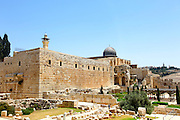 Israel, Jerusalem, The City of David (Ir David‎) is claimed to be the oldest settled neighborhood of Jerusalem and a major archaeological site due to recognition as biblical Jerusalem Temple mount and Al Aqsa Mosque in the background