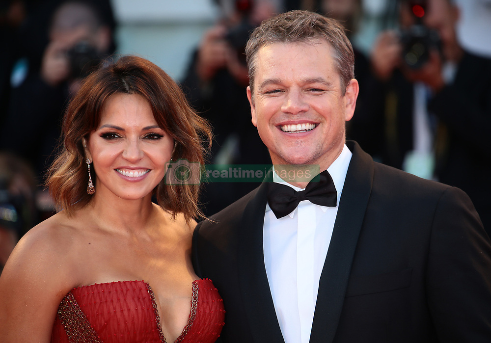 Matt Damon and Luciana Barroso walks the red carpet ahead of the 'Downsizing' screening and Opening Ceremony during the 74th Venice Film Festival at Sala Grande on August 30, 2017 in Venice, Italy (Photo by Matteo Chinellato/NurPhoto/Sipa USA)
