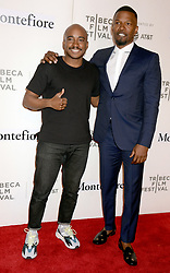 Jamie Foxx and Jacques Morel attend the event Storytellers: Jamie Foxx during the 2018 Tribeca Film Festival at BMCC Tribeca PAC in New York City, NY, USA on April 23, 2018. Photo by Denis van Tine/ABACAPRESS.COM