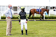 Jockey Richard Kingscote and trainer Tom Dascombe - Mandatory by-line: Robbie Stephenson/JMP - 22/07/2020 - HORSE RACING - Bath Racecoure - Bath, England - Bath Races
