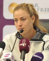 DOHA, Feb. 11, 2019  Angelique Kerber of Germany attends a press conference ahead of the 2019 WTA Qatar Open in Doha, Qatar, on Feb. 10, 2019. (Credit Image: © Yangyuanyong/Xinhua via ZUMA Wire)