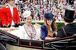 Left to right, HRH The PRINCESS ROYAL and PRINCESS BEATRICE OF YORK at the third day of the Royal Ascot 2010 (Ladies Day) Racing Festival at Ascot Racecourse, Bershire on 17th June 2010.
