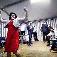 Nederland, Amsterdam, 5 augustus 2012..Het aantal Surinaamse en Antilliaanse kandidaten voor de Tweede Kamerverkiezingen van 9 juni valt tegen. En ze staan op een lage plaats op de kandidatenlijsten. Een van de weinige uitzonderingen is nieuweling Tanja Jadnanansing, die op de 28ste plaats staat bij de PvdA..debat van surinaamse en antiliaanse 2de kamer kandidaten voor de aanstaande verkiezingen in de politieke tent tijdens het Kwakoe festival in het Bijlmerpark..Op de foto Tanja Jadnanansing nieuw PvdA-talent..Foto:Jean-Pierre Jans