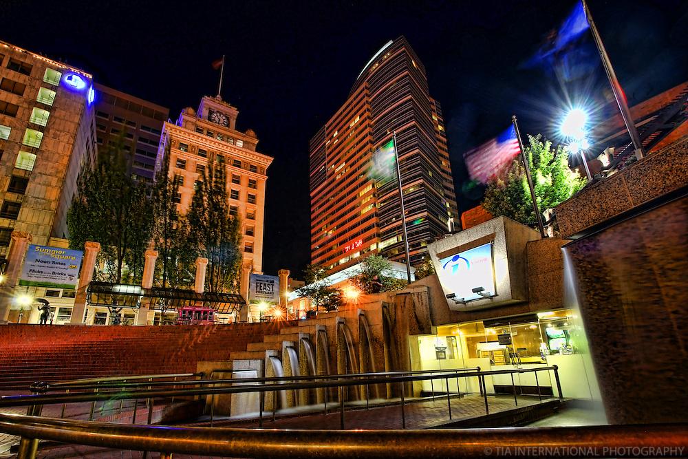 Pioneer Square @ NIght
