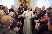 El Vaticano, 26.11.13. Papa Francisco recibe a sindicatlistas de la CGT oficialista.<br /> Foto: Víctor Sokolowicz