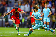 Goal Portugal midfielder Conclamo Guedes (17) scores a goal 1-0 during the UEFA Nations League match between Portugal and Netherlands at Estadio do Dragao, Porto, Portugal on 9 June 2019.