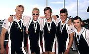 St Catharines, Ontario, CANADA 1999 World Rowing Championships. USA M4+ Jake Wetzal, Thomas MURRAY, Daniel PROTZ, Garrett KLUGH, cox Sean MULLIGAN. [Mandatory Credit Peter Spurrier Intersport Images] 1999 FISA. World Rowing Championships, St Catherines, CANADA