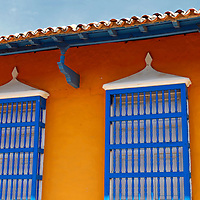 Central America, Cuba, Trinidad. Windows of Trinidad, Cuba.