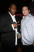 l to r: Josh X and Kiel at The Josh X showcase sponsored by MusaEntertainment and held at SOB's on August 27, 2009 in New York City