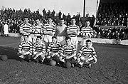 17/02/1963<br /> 02/17/1963<br /> 17 February 1963<br /> Soccer: Shamrock Rovers v Cork Celtic at Glenmalure Park, Milltown. The Shamrock Rovers team.