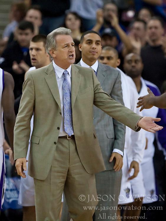 November 29, 2009; Sacramento, CA, USA;  Sacramento Kings head coach Paul Westphal during the fourth quarter against the New Orleans Hornets at the ARCO Arena.  Sacramento defeated New Orleans 112-96.
