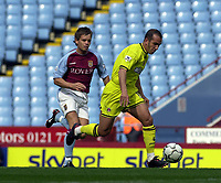 Photo: Greig Cowie.<br /> 20/09/2003.<br /> Barclaycard Premiership. Aston Villa v Charlton Athletic.<br /> Paolo Di Canio Breaks forward