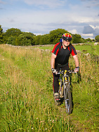Andy Hayes on Senners Lane track, near Chelmorton