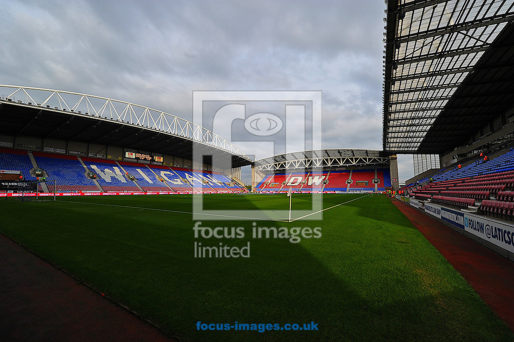 Picture by Ian Wadkins/Focus Images Ltd +44 7877 568959<br /> 20/08/2013<br /> General view of the DW Stadium ahead of the Sky Bet Championship match at the DW Stadium, Wigan.