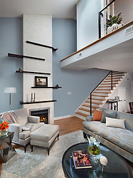1126 25th St Nw Washington, DC designer Cynthia Prizant Home Living Room Stair stairway