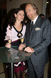 Food writer TAMSIN DAY-LEWIS and ED VICTOR at a the Orion Publishing Group Author Party and a private view of the 'Turner Whistler Monet' exhibition at Tate Britain, Atterbury Street, London SW1 on 23rd February 2005.<br /><br />NON EXCLUSIVE - WORLD RIGHTS