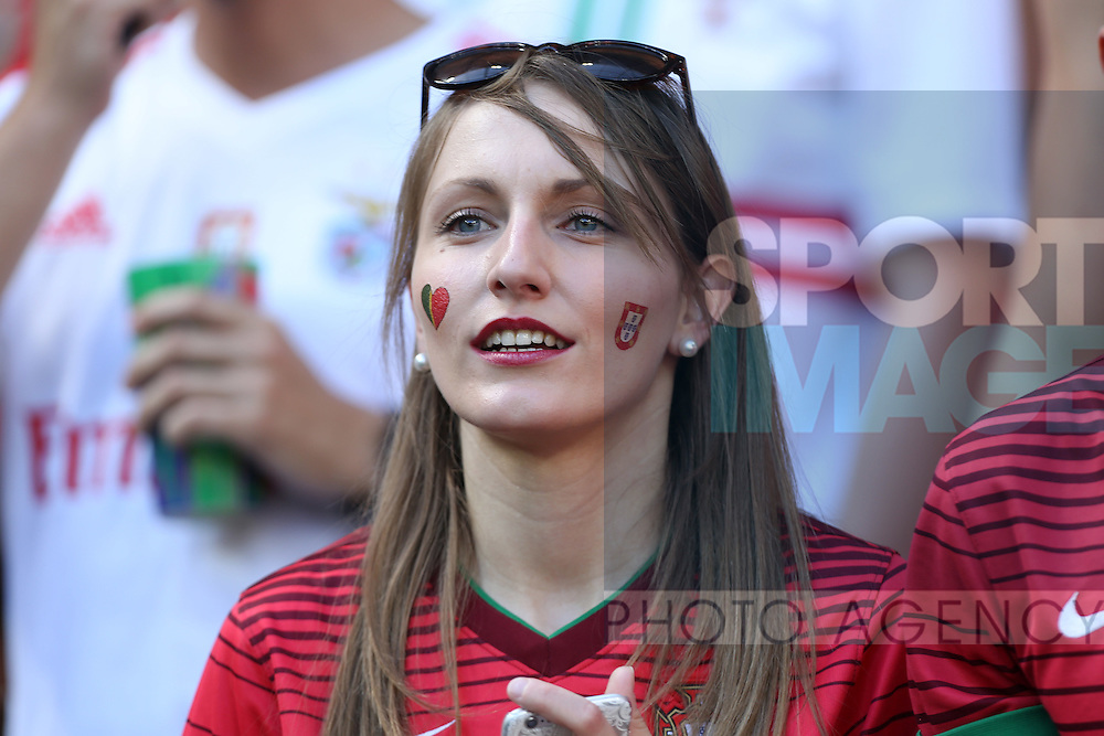A Portugal fan during the UEFA European Championship 2016 match at the Stade de Lyon, Lyon. Picture date June 22nd, 2016 Pic Phil Oldham/Sportimage