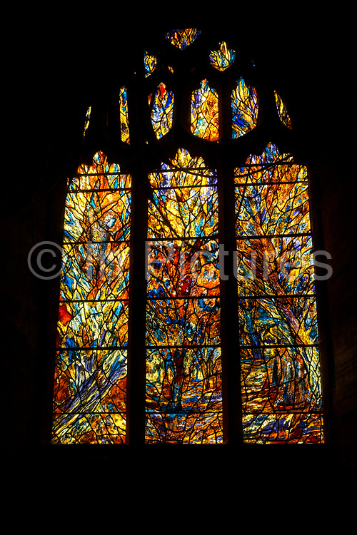 Stained glass window in St Peters church in Martley, England, United Kingdom.