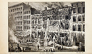 AFTER THE FIRE, From the autobiographical Book ' Struggles and triumphs; or, Forty years' recollections of P.T. Barnum ' By Barnum, P. T. (Phineas Taylor), 1810-1891 Published by The Courier Company Buffalo, N.Y. in 1879. Phineas Taylor Barnum (July 5, 1810 – April 7, 1891) was an American showman, politician, and businessman, remembered for promoting celebrated hoaxes and for founding the Barnum & Bailey Circus (1871–2017). He was also an author, publisher, and philanthropist,