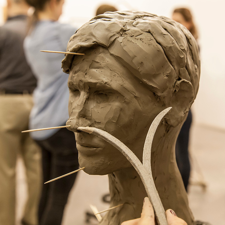 Evening Class, Figure and Portrait Sculpture with Ed Murray, The Art Academy, Mermaid Court, 165A Borough High Street, London, England, on 26th November 2015