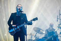 Thom Yorke of Radiohead performing during the Glastonbury Festival at Worthy Farm in Pilton, Somerset. Picture date: Friday June 23rd, 2017. Photo credit should read: Matt Crossick/ EMPICS Entertainment.