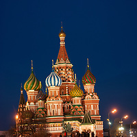 Moscow, Russia.  Red Square and  St. Basil's Cathedral.
