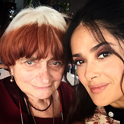 """Salma Hayek releases a photo on Instagram with the following caption: """"My beloved @agnes.varda you will forever be present among us , we shall feel your light eternally ... Your free spirited nature shall continue to inspire us so that we too can attempt to incarnate the values that you have left us with .... Ma chere Agnes D amour .... tu es , et seras toujours avec nous et parmis nous avec ta lumiere . Ton esprit continuera a nous inspirer et a nous guider vers  cet ideal \u2018d etre \u2018que tu nous as laisse\u2019 .... merci ..."""". Photo Credit: Instagram *** No USA Distribution *** For Editorial Use Only *** Not to be Published in Books or Photo Books ***  Please note: Fees charged by the agency are for the agency's services only, and do not, nor are they intended to, convey to the user any ownership of Copyright or License in the material. The agency does not claim any ownership including but not limited to Copyright or License in the attached material. By publishing this material you expressly agree to indemnify and to hold the agency and its directors, shareholders and employees harmless from any loss, claims, damages, demands, expenses (including legal fees), or any causes of action or allegation against the agency arising out of or connected in any way with publication of the material."""