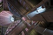 upwards view inside the Saint Joseph Church in Le Havre France