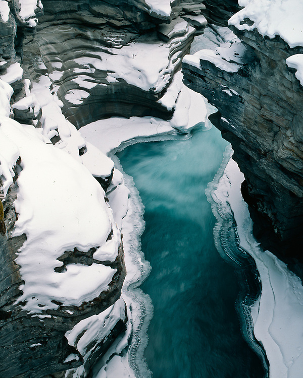 Athabasca Falls, winter, Jasper National Park, Alberta, Canada