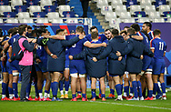 Players of France get together following the 2020 International Rugby Union Test Match between France and Wales on October 24, 2020 at Stade de France in Saint-Denis near Paris, France - Photo Jean Catuffe / ProSportsImages / DPPI