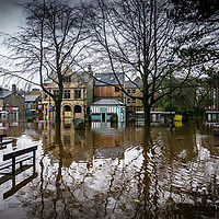 09/02/2020 Hebden Bridge - West Yorkshire - Flooding in the town