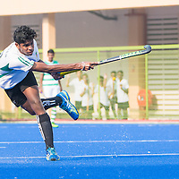 Akash Prebhash Chandra (#10) of RI shoots. He scored a hat-trick in the game. (Photo © Jerald Ang/Red Sports)