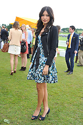 GEMMA CHAN at the 2011 Veuve Clicquot Gold Cup Final at Cowdray Park, Midhurst, West Sussex on 17th July 2011.