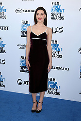 February 23, 2019 - Santa Monica, CA, USA - LOS ANGELES - FEB 23:  Aubrey Plaza at the 2019 Film Independent Spirit Awards on the Beach on February 23, 2019 in Santa Monica, CA (Credit Image: © Kay Blake/ZUMA Wire)