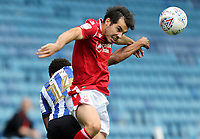 Nottingham Forest's Yuri Ribeiro wins a header despite the attentions of Sheffield Wednesday's Jacob Murphy<br /> <br /> Photographer Rich Linley/CameraSport<br /> <br /> The EFL Sky Bet Championship - Sheffield Wednesday v Nottingham Forest - Saturday 20th June 2020 - Hillsborough - Sheffield <br /> <br /> World Copyright © 2020 CameraSport. All rights reserved. 43 Linden Ave. Countesthorpe. Leicester. England. LE8 5PG - Tel: +44 (0) 116 277 4147 - admin@camerasport.com - www.camerasport.com